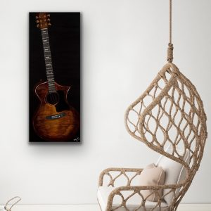 Acoustic III Acrylic & Mixed Media Painting by Dawn M. Wayand