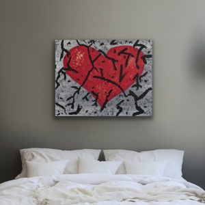Breaking Heart Acrylic Painting by Dawn M. Wayand