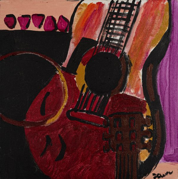 Broken Acoustic II Acrylic Painting by Dawn M. Wayand