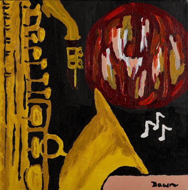 Broken Brass I Acrylic Painting by Dawn M. Wayand