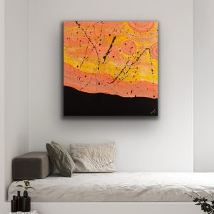 Desert Horizon Acrylic Painting by Dawn M. Wayand