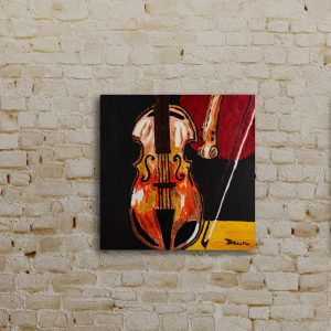 Broken Violin I Acrylic Painting by Dawn M. Wayand