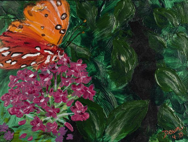Butterfly I Acrylic Painting by Dawn M. Wayand