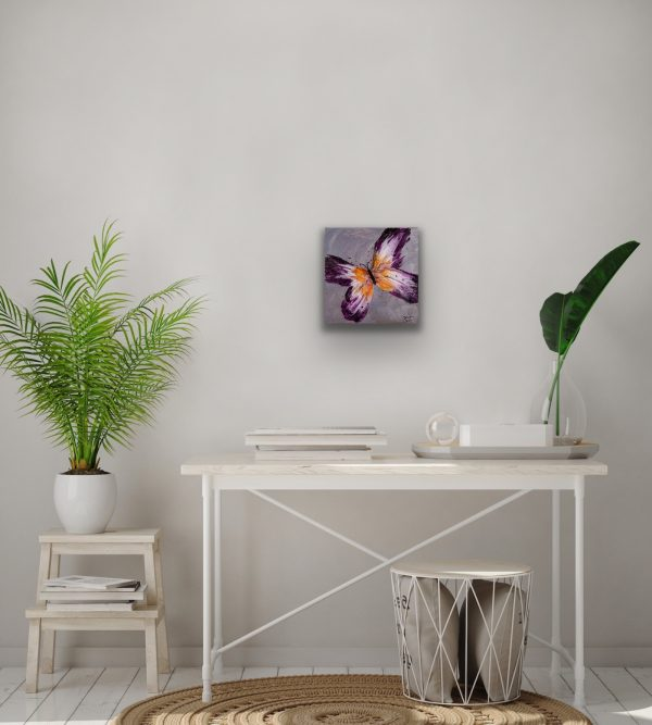 Butterfly II Acrylic Painting by Dawn M. Wayand