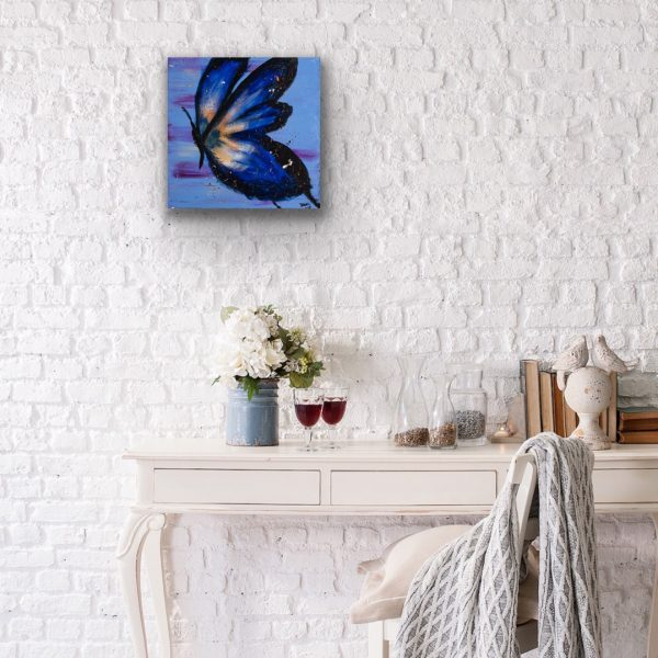 Butterfly III Acrylic Painting by Dawn M. Wayand