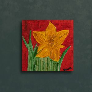 Daffodil I Oil Painting by Dawn M. Wayand