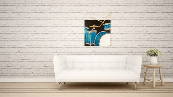 Drums III Acrylic & Mixed Media Painting by Dawn M. Wayand