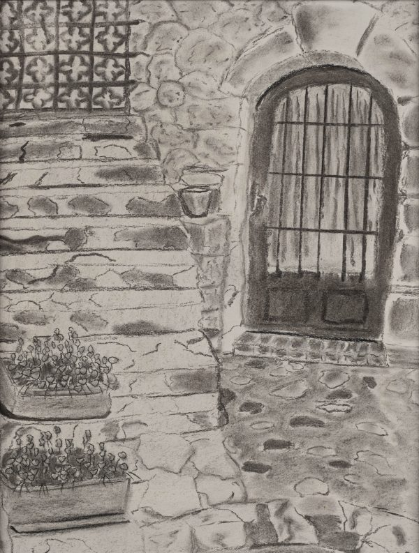 Eze I Charcoal Drawing by Dawn M. Wayand
