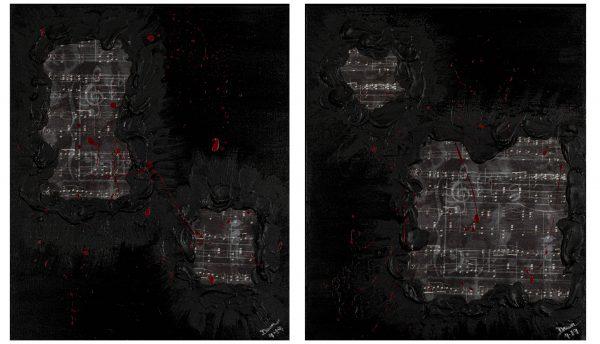 Hidden Treasures I & II Acrylic & Mixed Media Paintings by Dawn M. Wayand