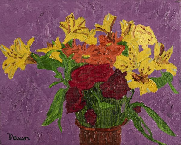 Peaceful Bouquet Oil Painting by Dawn M. Wayand