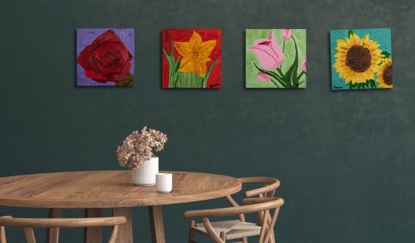 Rose I Oil Painting by Dawn M. Wayand