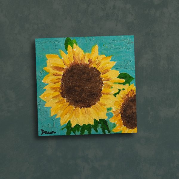 Sunflowers I Oil Painting by Dawn M. Wayand
