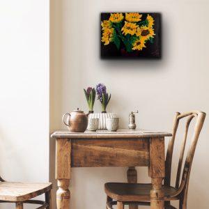 Sunflowers III Acrylic Painting by Dawn M. Wayand
