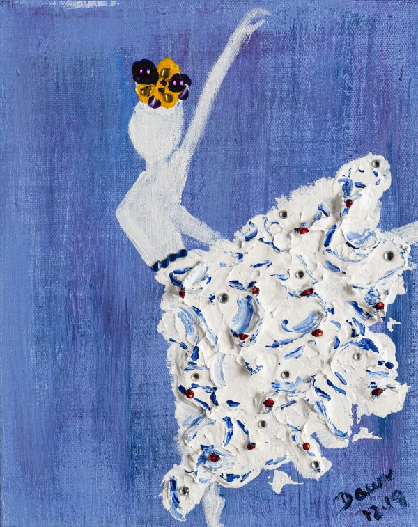 The 100th Dancer Acrylic & Mixed Media Painting by Dawn M. Wayand