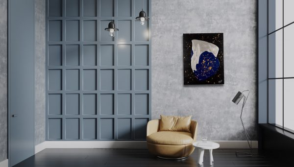 The Deep Blue Acrylic Painting by Dawn M. Wayand