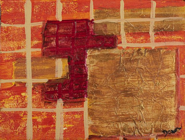 The Imperfect Cubes Acrylic & Mixed Media Painting by Dawn M. Wayand