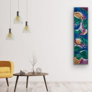 Waves & Circles I Acrylic Painting by Dawn M. Wayand