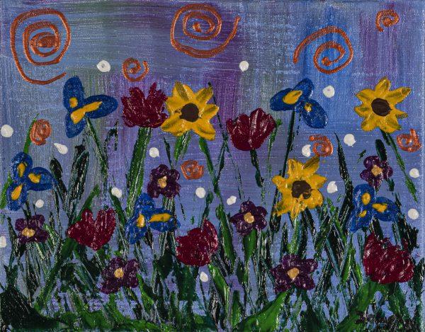 Wildflowers I Acrylic Painting by Dawn M. Wayand