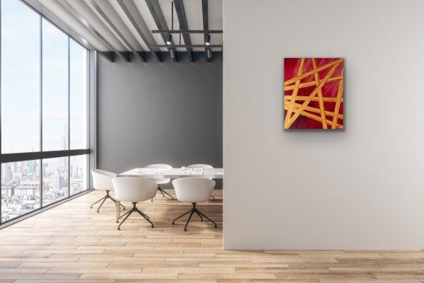 Crossroads I Acrylic Painting by Dawn M. Wayand