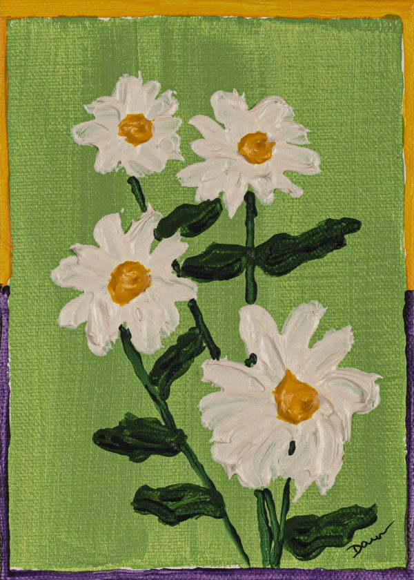 Daisies II Acrylic on Canvas Painting by Dawn M. Wayand