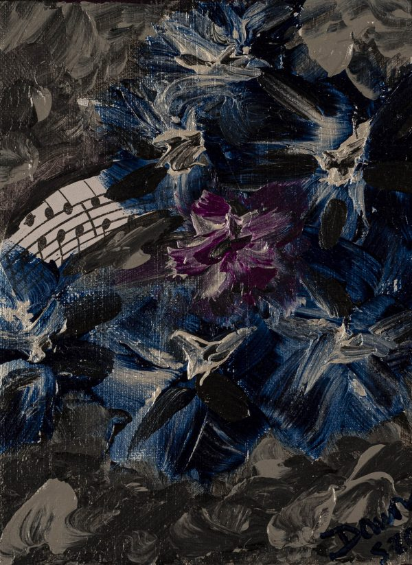 Glorious Melodies I Acrylic & Mixed Media Painting by Dawn M. Wayand