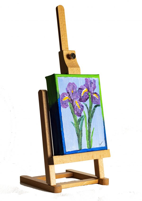 Irises I Acrylic Painting on Canvas by Dawn M. Wayand