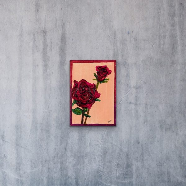 Roses II Acrylic Painting by Dawn M. Wayand