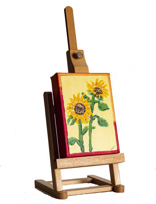 Sunflowers V Acrylic on Canvas Painting by Dawn M. Wayand