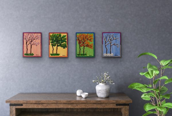 The Four Seasons II Acrylic Paintings by Dawn M. Wayand
