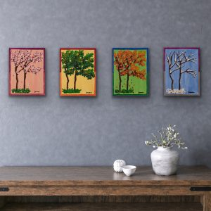 The Four Seasons II Acrylic Paintings by Dawn M. Wayand