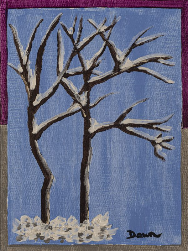 The Four Seasons II - Winter Acrylic Painting by Dawn M. Wayand