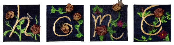 Home is Where Everything Grows Mixed Media Paintings by Dawn M. Wayand