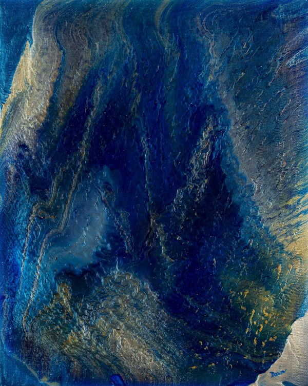 Ocean Wave I Acrylic Painting by Dawn M. Wayand