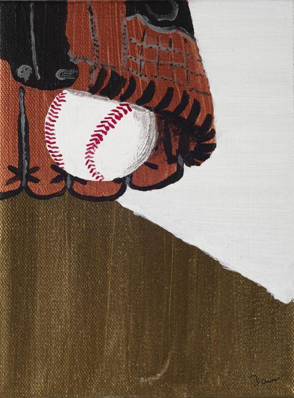 Baseball I Acrylic Painting by Dawn M. Wayand