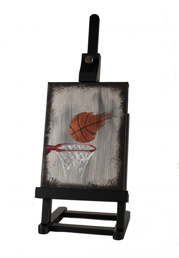 Basketball I Acrylic Painting by Dawn M. Wayand