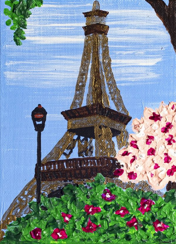 Eiffel Tower II Acrylic Painting on Canvas by Dawn M. Wayand