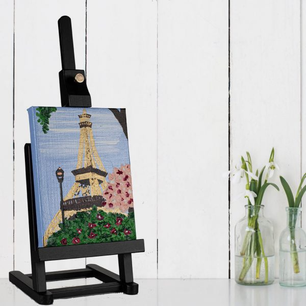 Eiffel Tower II Acrylic on Canvas Painting by Dawn M. Wayand