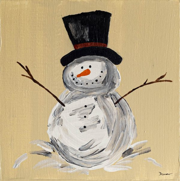 For the Love of Snow I Acrylic Painting on Canvas by Dawn M. Wayand