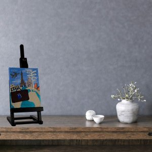 Globetrekker I Acrylic Painting by Dawn M. Wayand