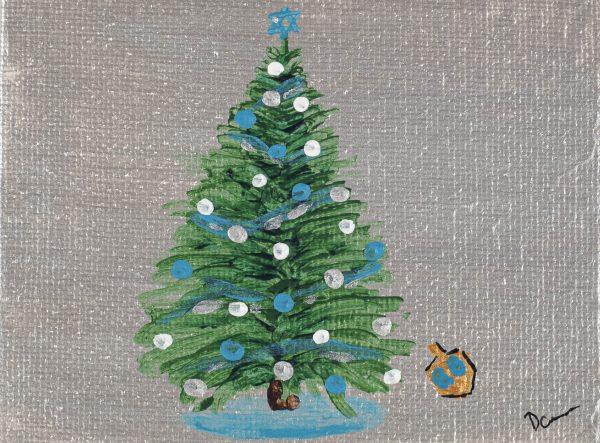 Hanukkah Tree I Acrylic Painting by Dawn M. Wayand