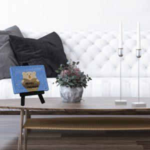 Happy Holidays Polar Bear I Acrylic Painting by Dawn M. Wayand