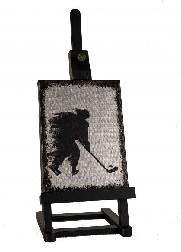 Hockey I Acrylic Painting by Dawn M. Wayand