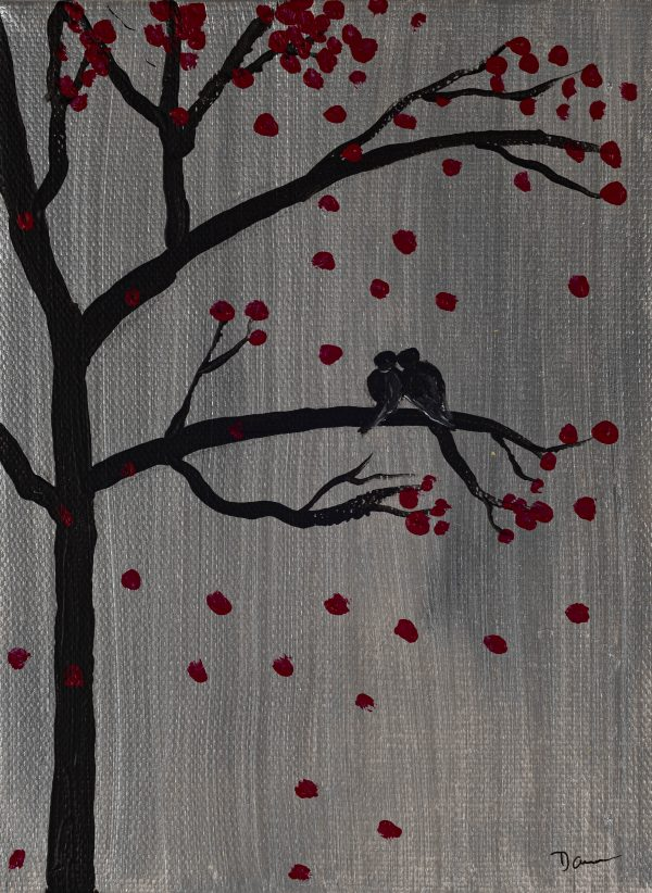 Love Birds I Acrylic Painting by Dawn M. Wayand