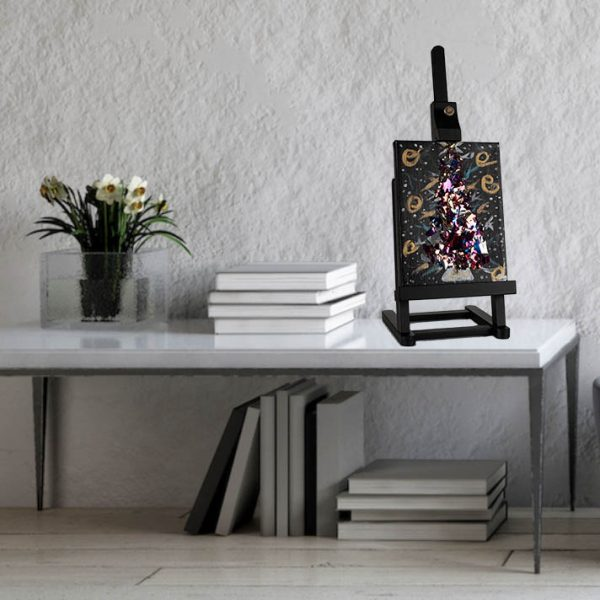 Shiny Christmas Tree I Acrylic & Mixed Media Painting by Dawn M. Wayand