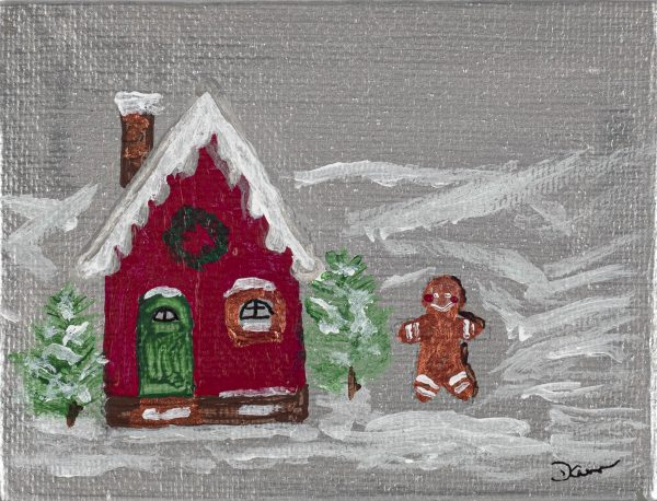 The Gingerbread Man's House I Acrylic Painting by Dawn M. Wayand