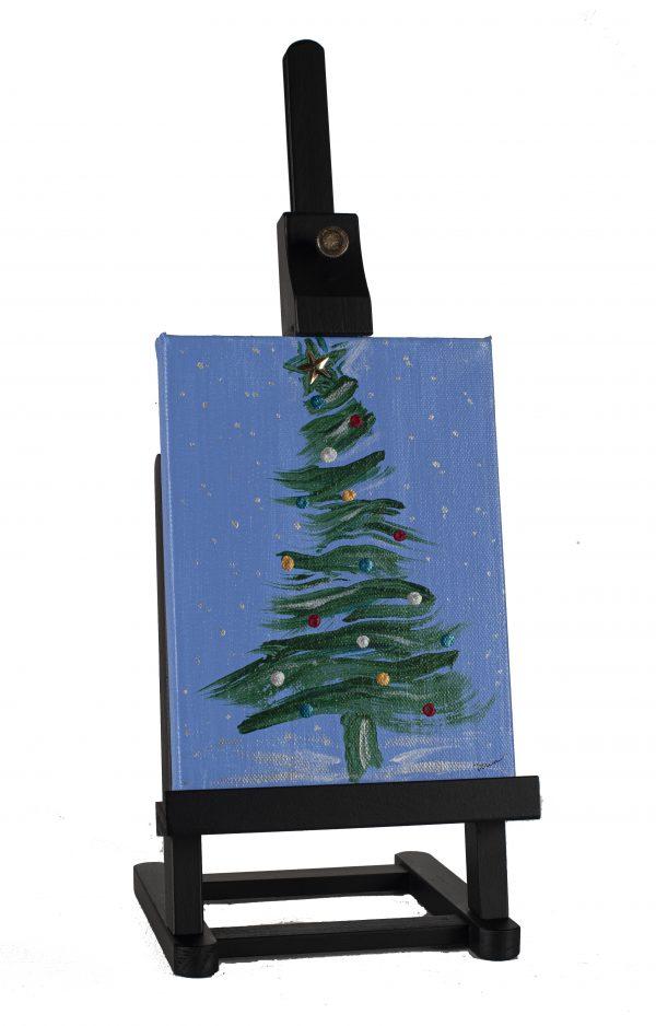Winter Holiday Tree I Acrylic & Mixed Media Painting by Dawn M. Wayand