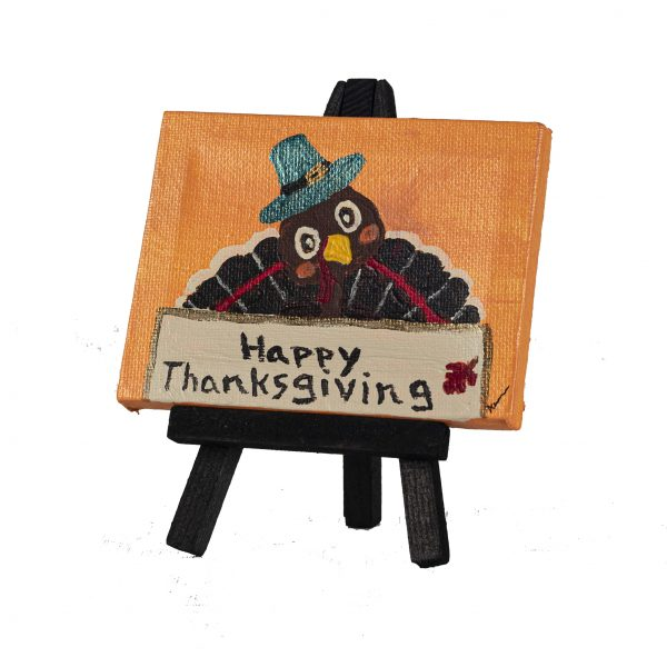 Happy Thanksgiving I Acrylic Painting by Dawn M. Wayand