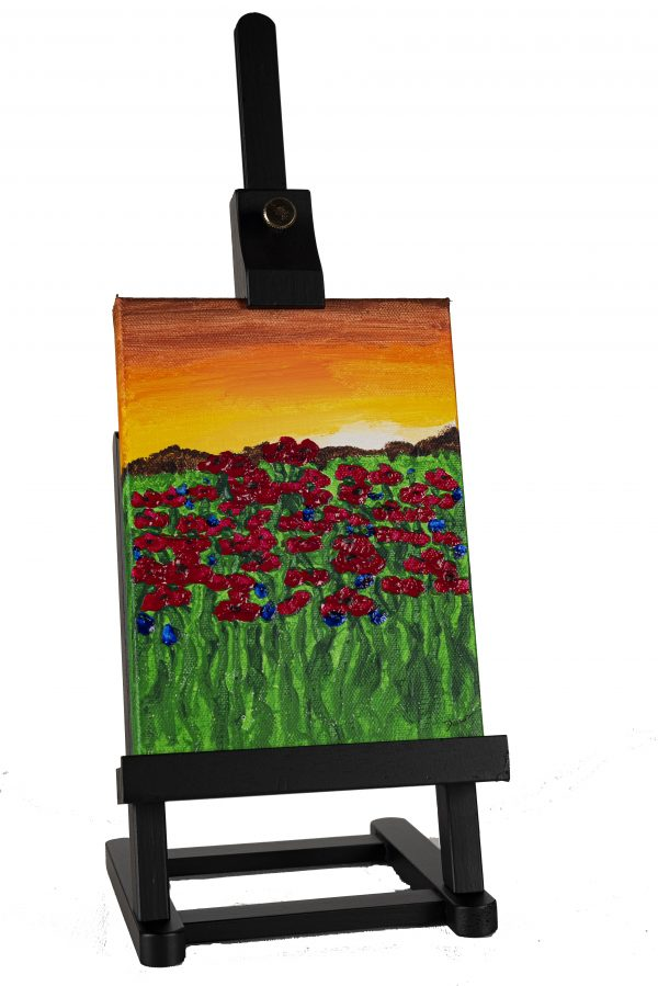 Poppies at Sunset II Acrylic Painting by Dawn M. Wayand