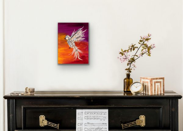 Songbird I Acrylic Painting by Dawn M. Wayand