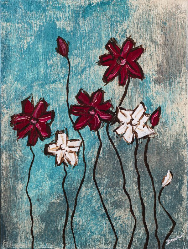 Wildflowers II Acrylic Painting by Dawn M. Wayand